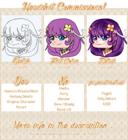 [Chibi] Headshot Commissions OPEN by Bleiy
