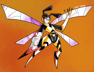 Wasp Woman (friend OC) by icespicespace