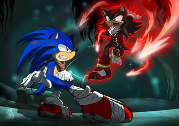 [Sonic Boom] Hedgehog Battle by mizusawa-yuki