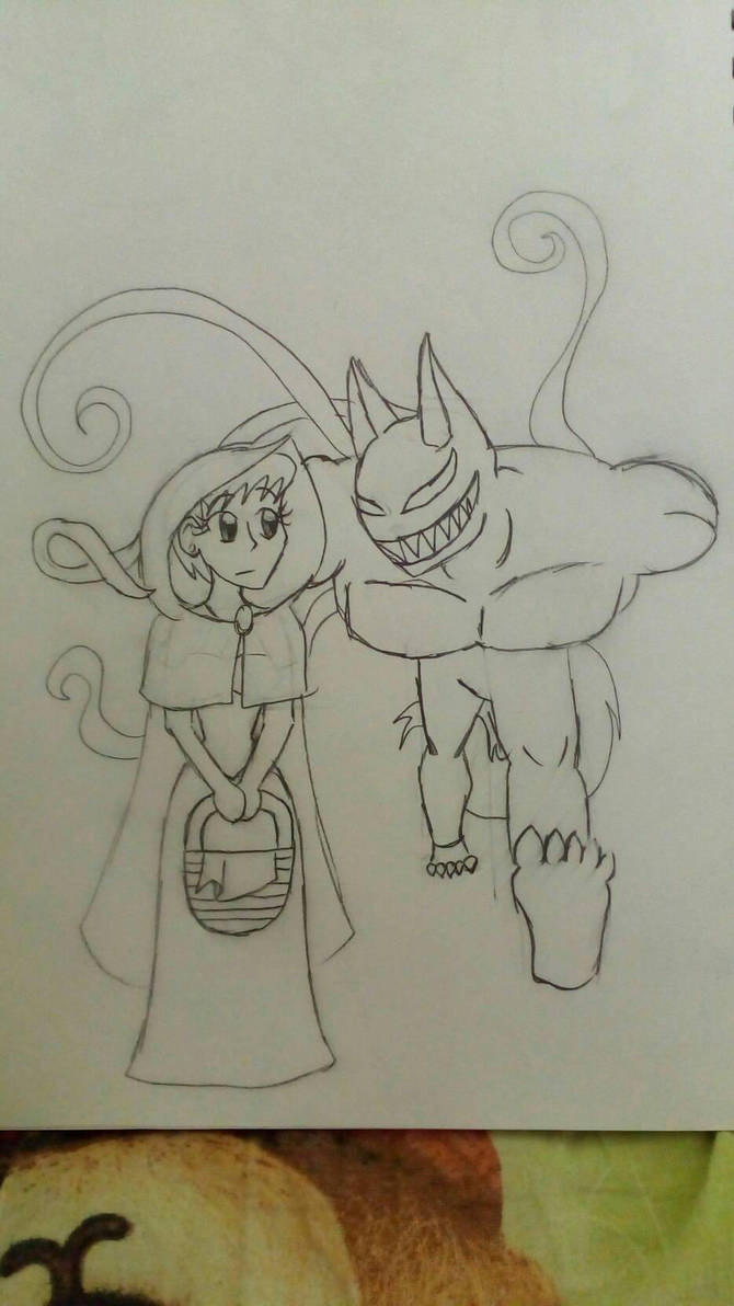 Red Riding Hood With A Big Bad Wolf By Ilhamiman On Deviantart