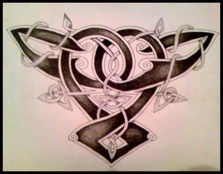 Celtic Back Piece by crashchick
