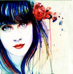 Zooey Watercolor by IsaiahStephens