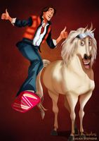 Disney Halloween: Flynn Rider by IsaiahStephens