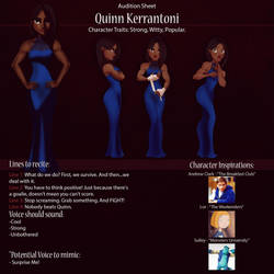 Quinn Audition Sheet by IsaiahStephens
