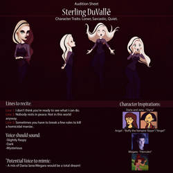 Sterling Audition Sheet by IsaiahStephens