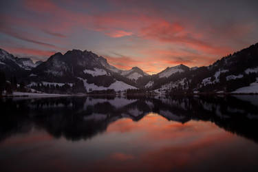 Schwarzsee sunset by Bibwue