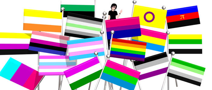MMD Pride Flags [DOWNLOAD] by KataTheDerp