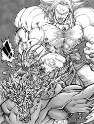 Broly Vs Doomsday by ShinMitsuomi