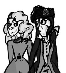 Old Fritz and Voltaire by Violetthehedgehog