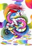 Rainbow critter by Chocolatechilla