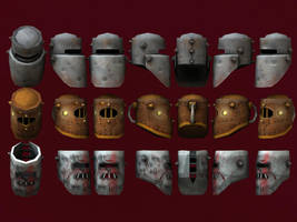 Low Poly Helmets by BlooCoops