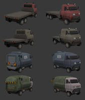 Low Poly Truck Models by BlooCoops