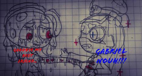 Gabriel saves Ayo-sensei Gabriel dead by guerrero3110