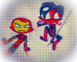 Spider-Ock and Iron Squid by guerrero3110