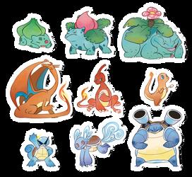 Pokemon Stickers Set 11 by Applewaffles