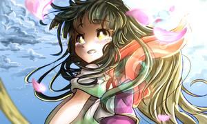 Tohoku Zunko_On my wingless back by Meg-chan1391