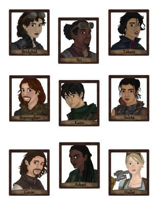 Meet the Cast of Birds of a Feather book 1! by LasselantaNariel