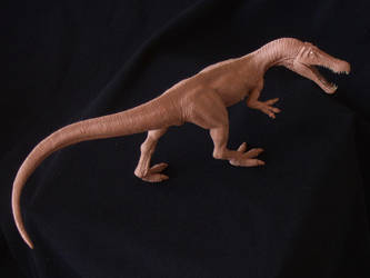 Baryonyx - prototype toy sculpt overhead pic by revenant-99
