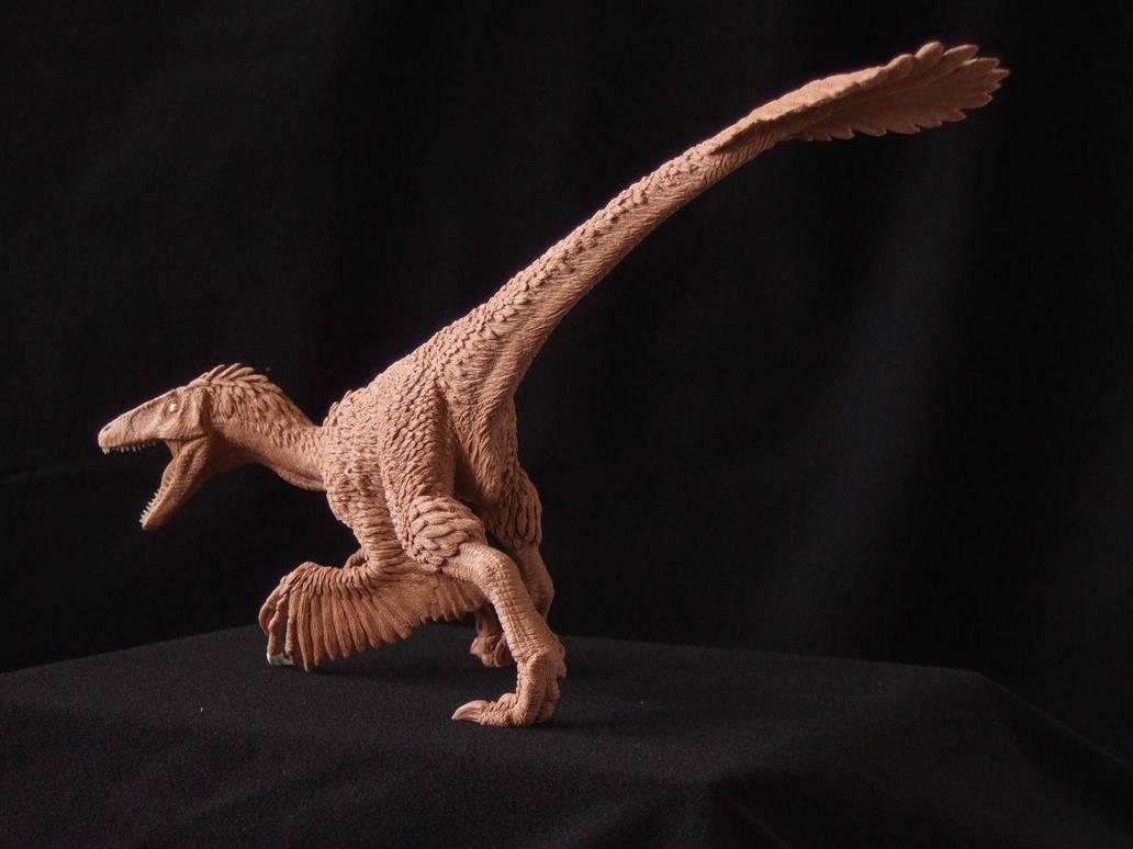 Deinonychus - prototype toy sculpt. rear view by revenant-99