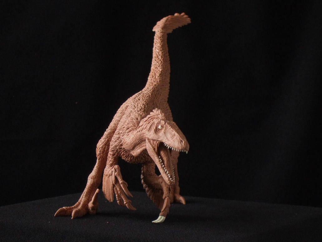Deinonychus - prototype sculpt. front view by revenant-99
