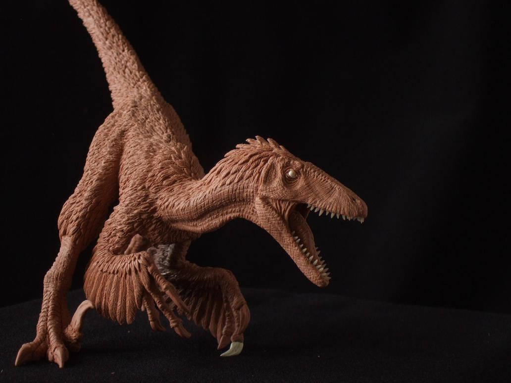Deinonychus - prototype toy sculpt. close up by revenant-99
