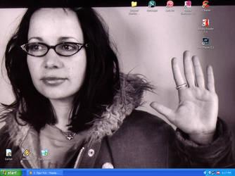 Janeane Garofalo desktop by MysticalChicken