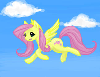 Fluttershy in the sky by Painted-Kitty