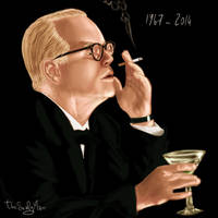 Philip Seymour Hoffman by thesealyman