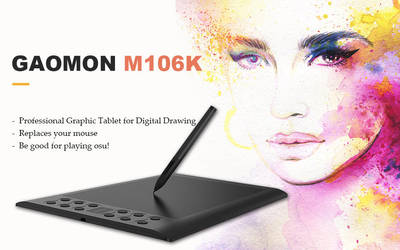 GAOMON M106K Pen Tablet by Gaomonpentablet