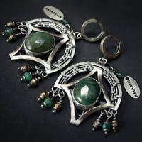 Quetzal - earrings 4 by BartoszCiba