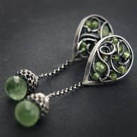 Lime - earrings 2 by BartoszCiba