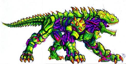 Robo Lizard by ZombPunk