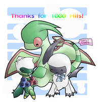 Thanks for 1000 Hits by haruka-wolf