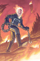 Ghost Rider in Hell by dio-03