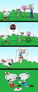 Cuphead: Backyard Bully Bungle by RaltheCommentator