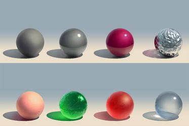 Material Study Spheres by JordanKerbow