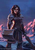 Female Winter Warrior by JordanKerbow