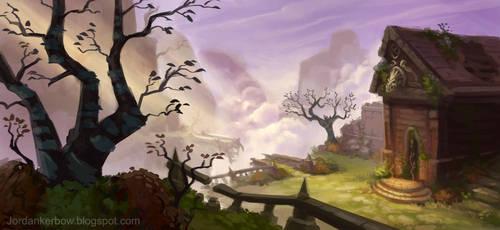 Diablo 3 zone Northern Highlands by JordanKerbow