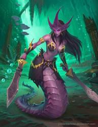 Sea Serpent by JordanKerbow