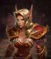 World of Warcraft Blood Elf by JordanKerbow
