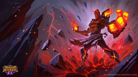 Dungeon Defenders 2 Lavamancer Illustration by JordanKerbow