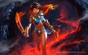 SMITE: Pele Mastery Splash art by JordanKerbow