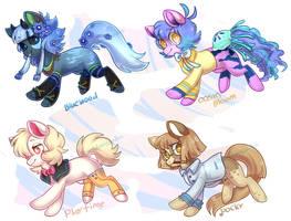 Pony Adopts Batch - 3/4 OPEN by PoneAdoptGarden