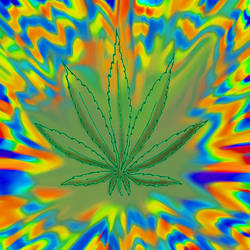 Tye-dye Leaf by shoobedoowahh