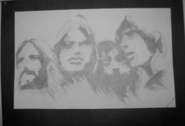 Pink Floyd Sketch by shoobedoowahh