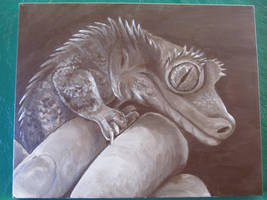 Monochromatic - Draco the Crested Gecko by Geckogirl315