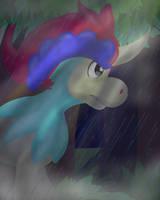Keldeo in the Rain by Geckogirl315