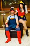 Bombshell Superman and Wonder Woman MTAC 2016 #01 by Lightning--Baron