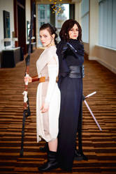 Rey and Kylo Ren from Star Wars 2016 MTAC/MTCC #07 by Lightning--Baron