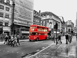 London Bus by Evas1va
